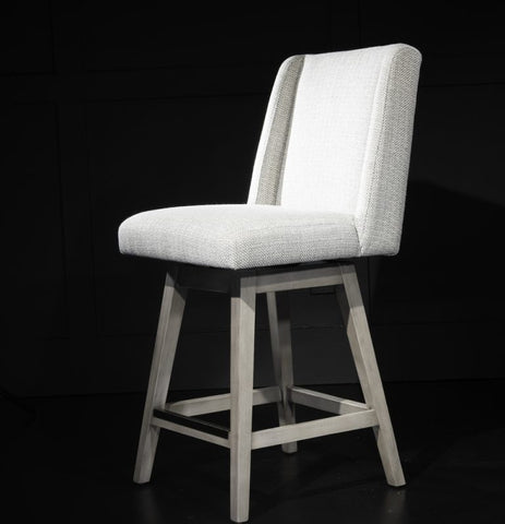 Tribeca Swivel Bar Stool in Cool Gray