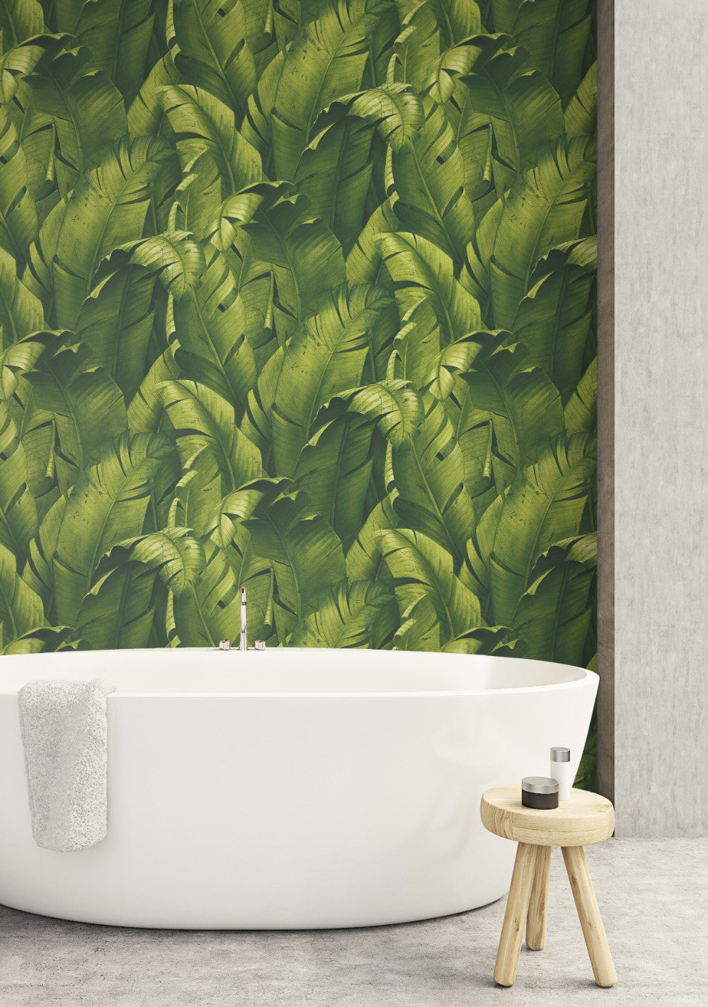 Tropical Banana Leaf Peel And Stick Wallpaper In Green By