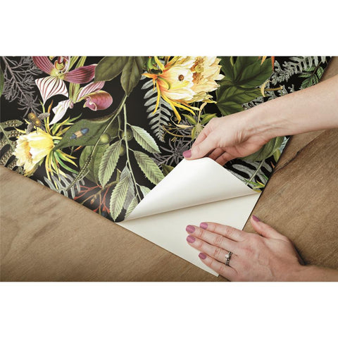 Tropical Flowers Peel & Stick Wallpaper by RoomMates for York Wallcoverings