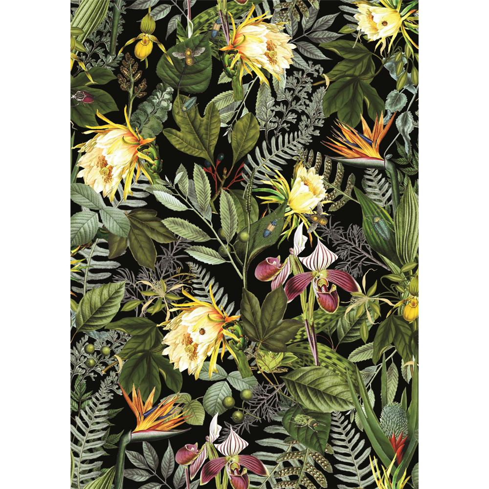 Sample Tropical Flowers Peel & Stick Wallpaper by RoomMates for York Wallcoverings