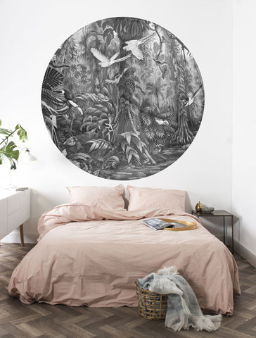 Tropical Landscape 006 Wallpaper Circle by KEK Amsterdam