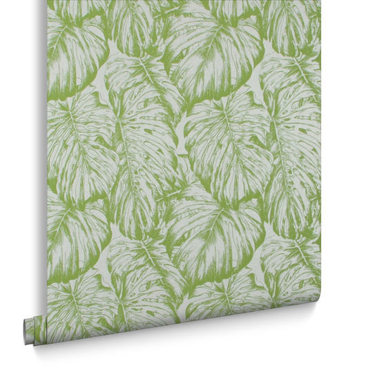 Sample Tropical Wallpaper in Parakeet from the Exclusives Collection by Graham & Brown