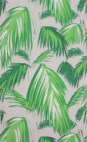 Tropicana Wallpaper in Grass and Pebble by Matthew Williamson for Osborne & Little