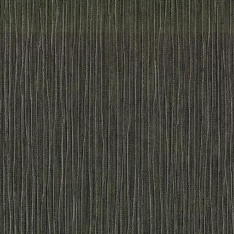 Tuck Stripe Wallpaper in Black and Brown from the Terrain Collection by Candice Olson for York Wallcoverings