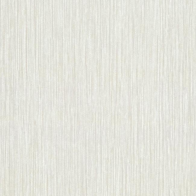 Tuck Stripe Wallpaper in Ivory and White from the Terrain Collection by Candice Olson for York Wallcoverings