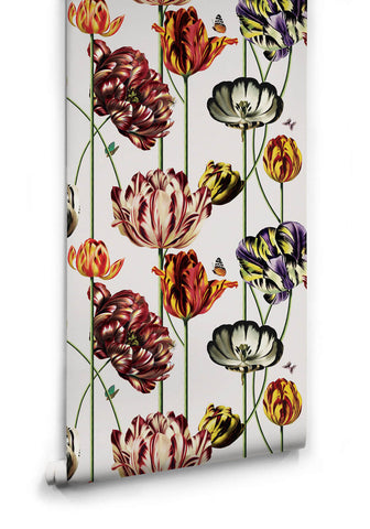 Sample Tulipa Wallpaper (Two Rolls) in Canvas from the Kingdom Home Collection by Milton & King