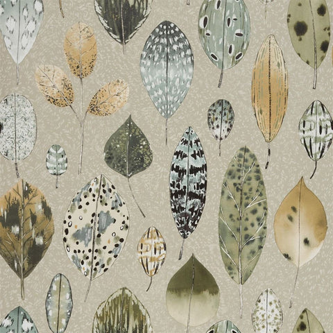 Tulsi Wallpaper in Birch from the Zardozi Collection by Designers Guild