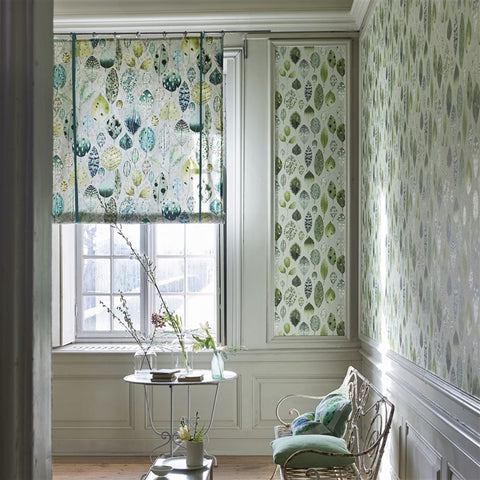 Tulsi Wallpaper in Eau De Nil from the Zardozi Collection by Designers Guild