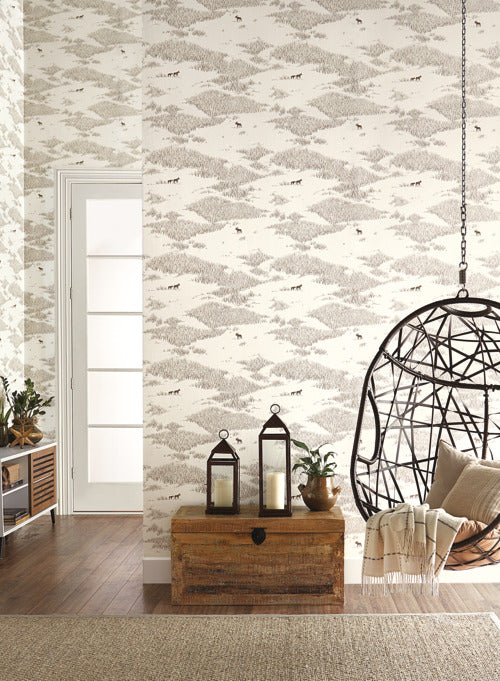 Tundra Scenic Wallpaper from the Norlander Collection by York Wallcoverings