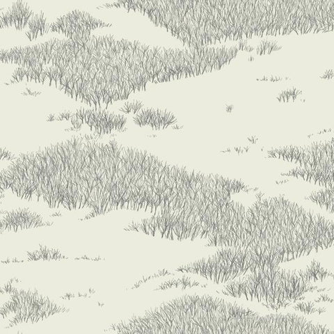 Tundra Scenic Wallpaper in Ivory and Grey from the Norlander Collection by York Wallcoverings
