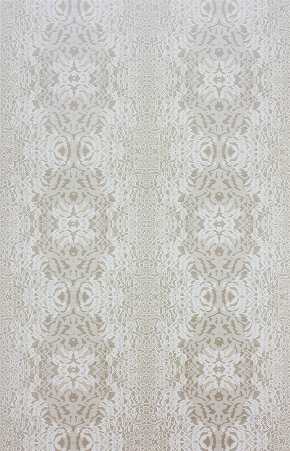 Turquino Wallpaper in Mica Ivory by Matthew Williamson for Osborne & Little