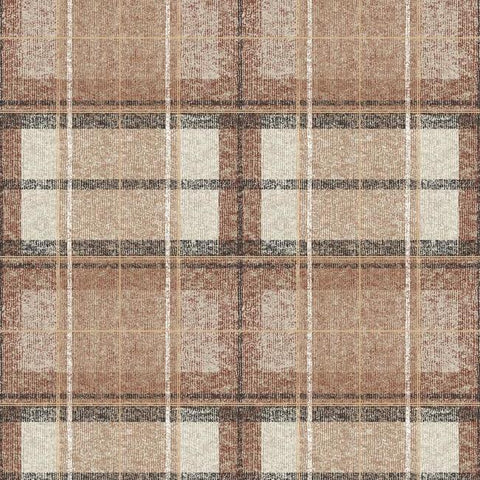 Tweed Plaid Peel & Stick Wallpaper in Rust by RoomMates for York Wallcoverings