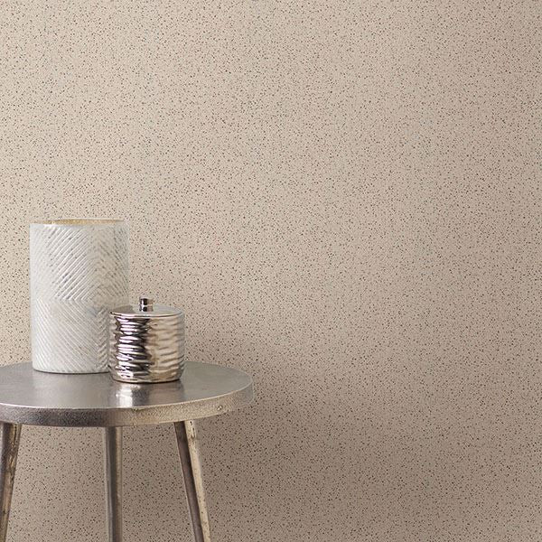 Twinkle Texture Wallpaper in Beige from the Moonlight Collection by Brewster Home Fashions