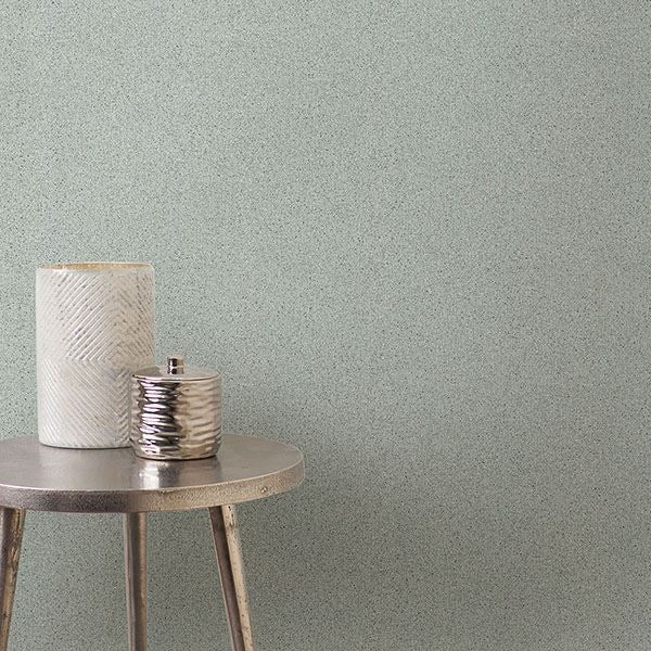 Twinkle Texture Wallpaper in Mint from the Moonlight Collection by Brewster Home Fashions