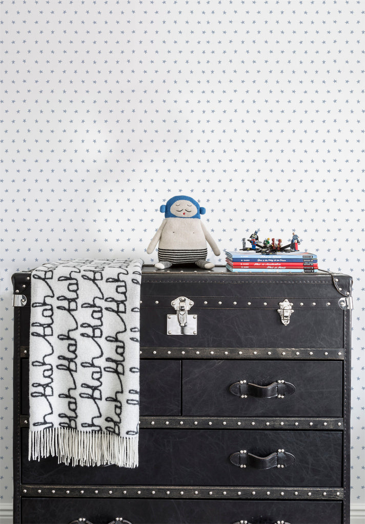 Twinkle Wallpaper in Blue by Marley + Malek Kids