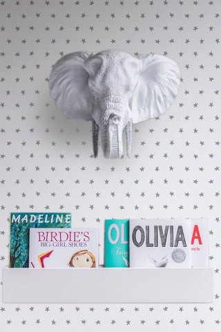 Twinkle Wallpaper in Silver by Marley + Malek Kids