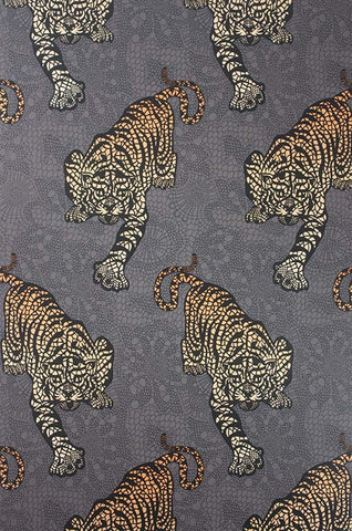 Tyger Tyger Wallpaper in Cacao and Marigold by Matthew Williamson for Osborne & Little