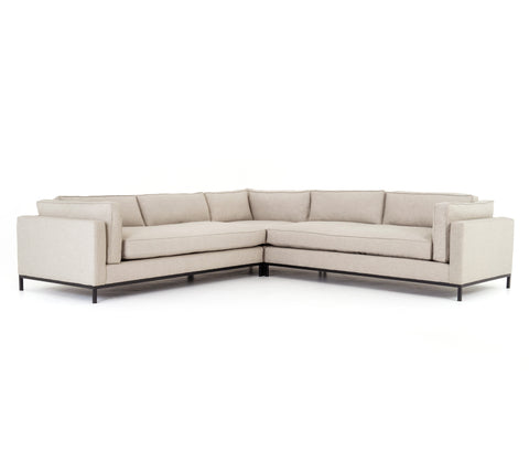 Grammercy 3-Pc Sectional in Oak Sand