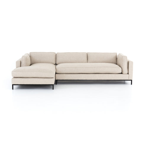 Grammercy 2 Pc Chaise Sectional In Oak Sand