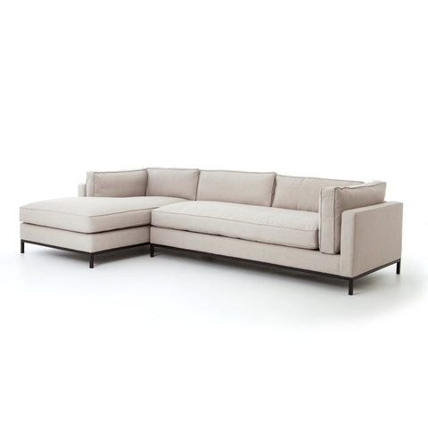 Grammercy 2 Pc Chaise Sectional In Bennett Moon