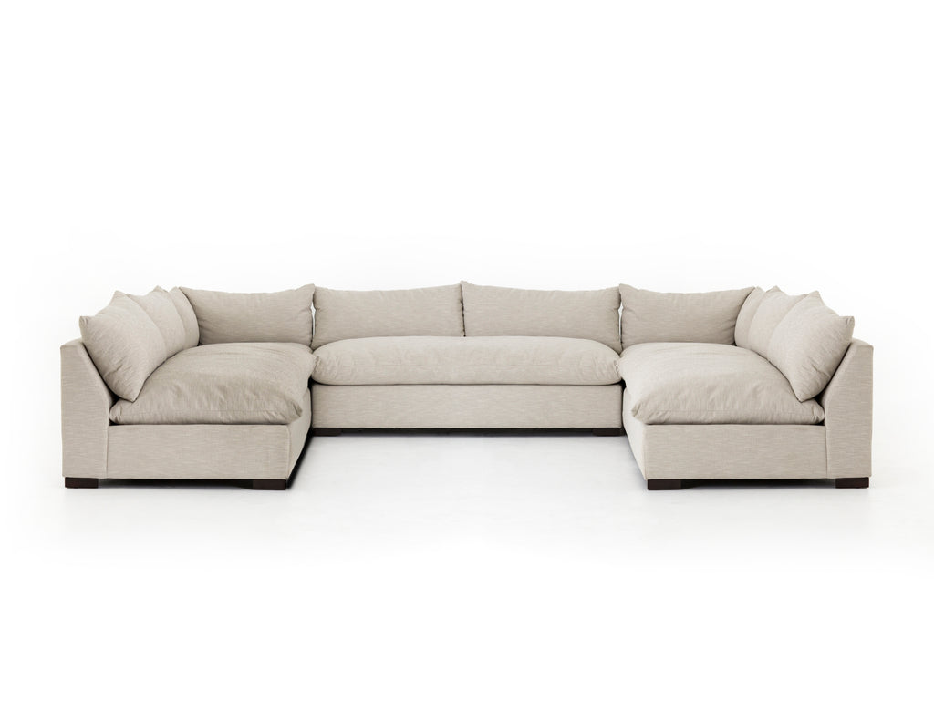 Grant 5-Pc Sectional in Ashby Oatmeal