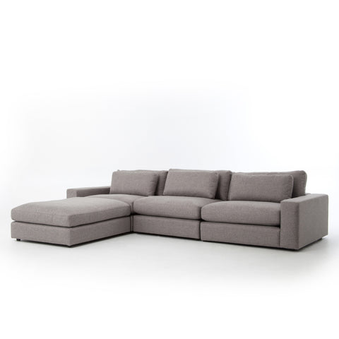 Bloor Sofa with Ottoman in Chess Pewter