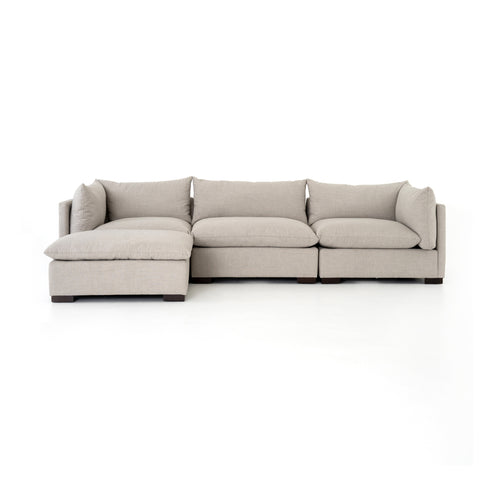 Westwood 3-Pc Sectional W/ Ottoman in Bennett Moon