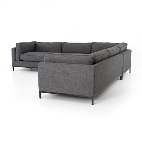 Grammercy 3-Pc Sectional in Bennett Charcoal