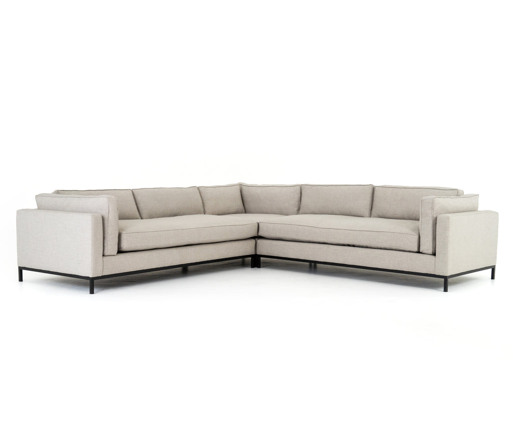 Grammercy 3-Pc Sectional in Bennett Moon
