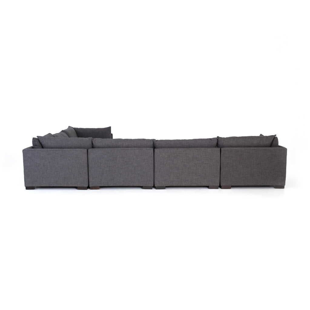 Westwood 6 Pc Sectional Ottoman In Bennett Charcoal