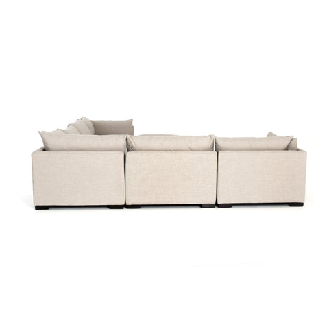 Westwood 6-Pc Sectional W/ Ottoman in Bennett Moon