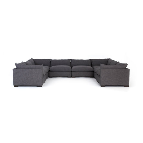 Westwood 8 Piece Sectional in Bennett Charcoal