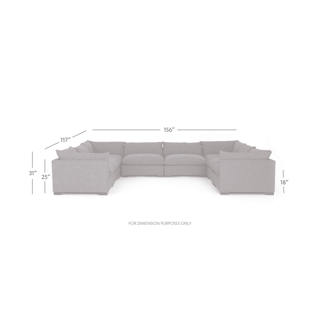 Westwood 8 Pc Sectional In Bennett Moon