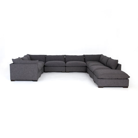 Westwood Eight Piece Sectional with Ottoman in Bennett Charcoal