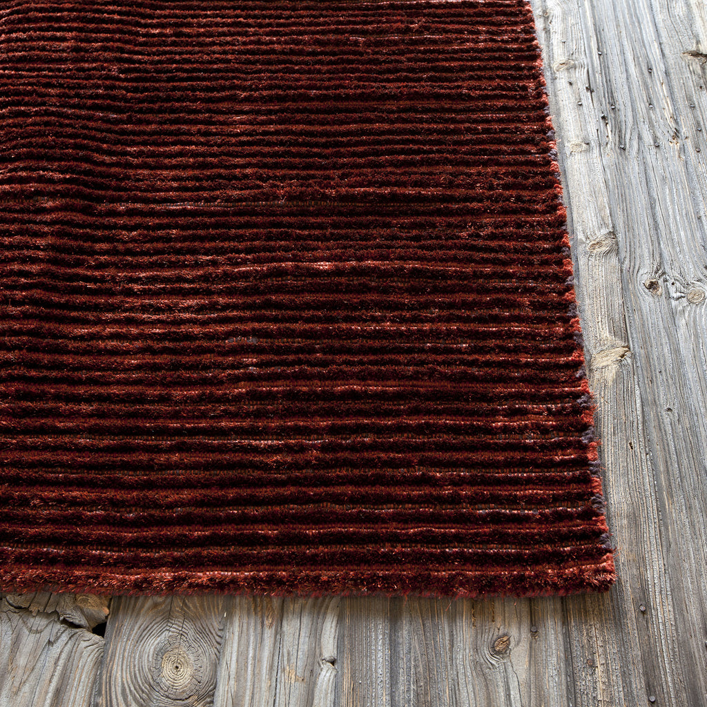 Ulrika Collection Hand-Woven Area Rug in Red design by Chandra rugs