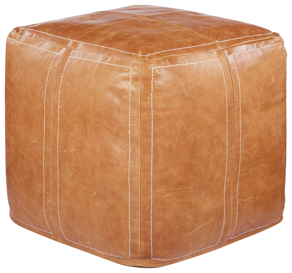 Sauve Brown Sugar Solid Pouf design by Nikki Chu for Jaipur Living