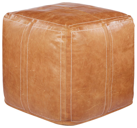 Sauve Brown Sugar Solid Pouf design by Nikki Chu