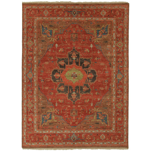 York Medallion Rug in Tandori Spice & Thrush design by Artemis for Jaipur