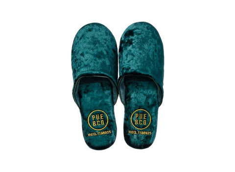 Velvet Slipper - Small - Green