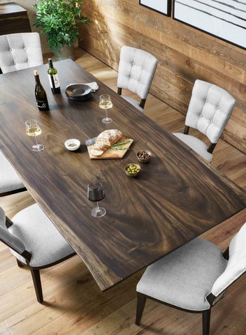 Rocky Dining Table In Smoked Saman