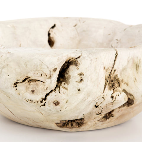 Reclaimed Wood Bowl in Ivory