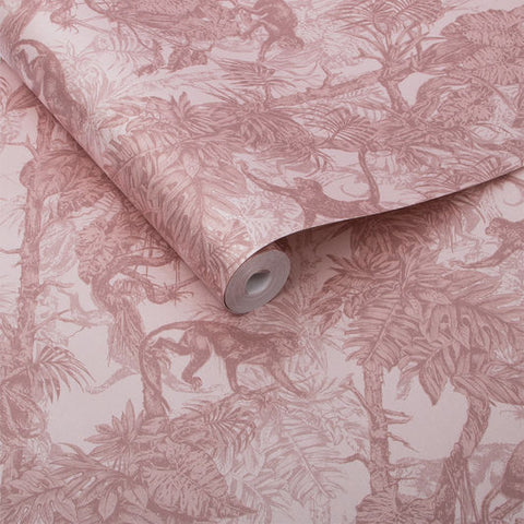 Ubud Wallpaper in Blush from the Exclusives Collection by Graham & Brown