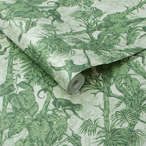 Ubud Wallpaper in Palm from the Exclusives Collection by Graham & Brown