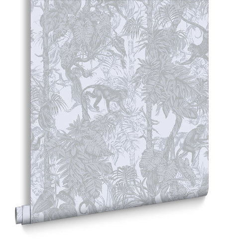 Ubud Wallpaper in Shimmer from the Exclusives Collection by Graham & Brown