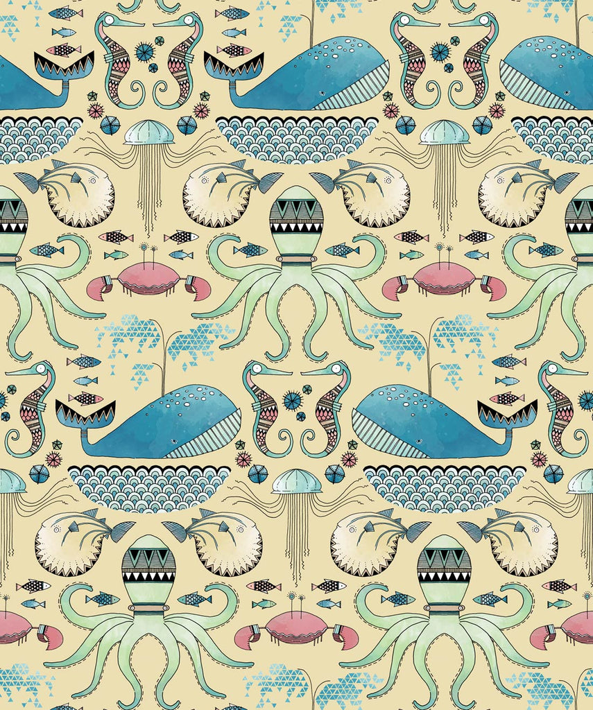 Sample Under The Sea Wallpaper from the Wallpaper Republic Collection by Milton & King