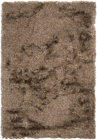 Vani Collection Hand-Woven Area Rug in Dark Brown & Beige design by Chandra rugs