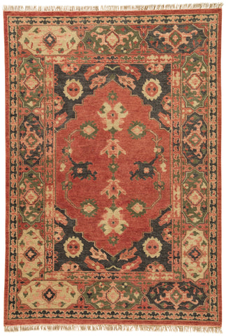 Azra Floral Rug in Phantom & Muted Clay design by Artemis for Jaipur