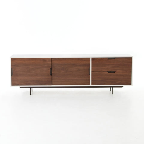 Tucker Large Media Console in Walnut