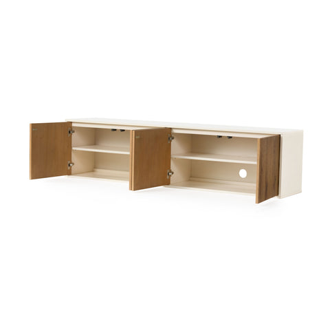 Cien Floating Media Console in Dry Oak by BD Studio