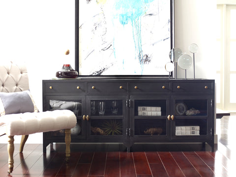 Shadow Box Media Console in Black